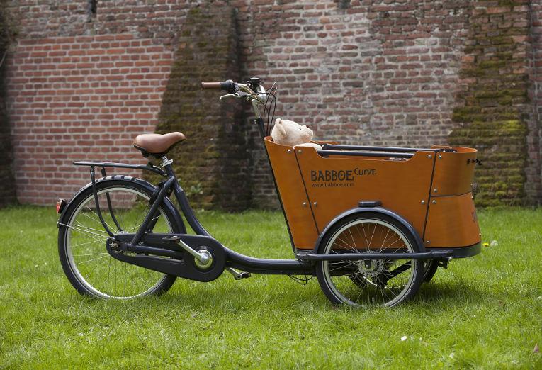 A Babboe Curve-e Family Cargo e-Bike.